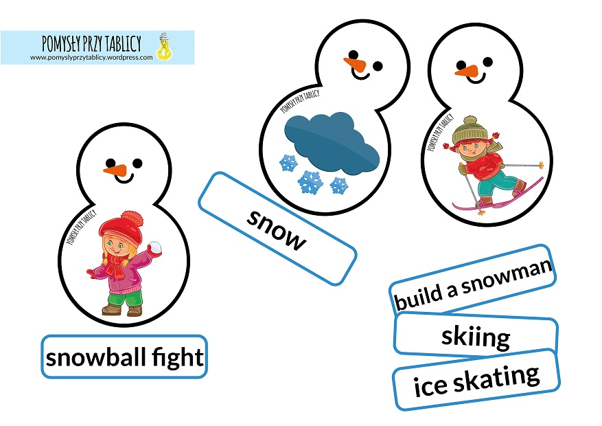 winter snowman flashcards-01